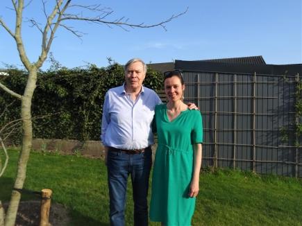 Bob Brees en dochter Inge